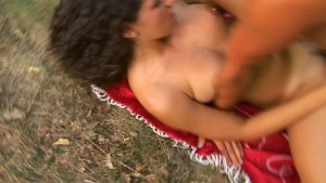Horney babe pick up guy in the park (CLIP)