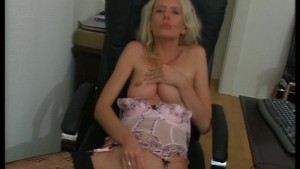 Blonde uses her hands to get hot