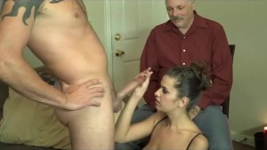 amazing Milf teasing a old guy while fucking