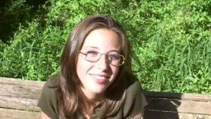 Amateur Outdoor Facial Cum on Glasses