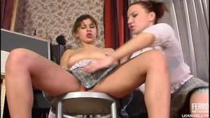 Upskirt lesbian seduction