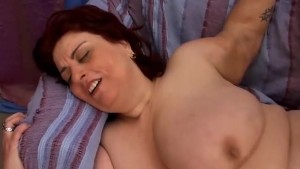 Big tits brunette BBW banged