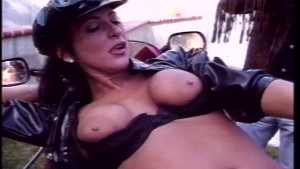 She feels good from vibrations of bike and fucking