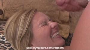 First timer deepthroat and facial