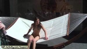 July - Hot German Babe Nude In Public