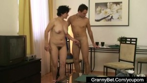 Cute mature lady fucking with young