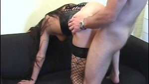 Long haired beauty goes after her man