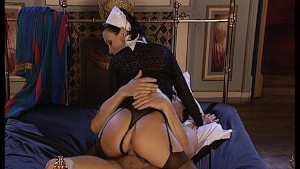 The maid wakes up her boss in a pleasurable way