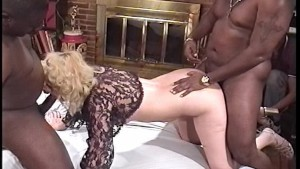 Black cocks fuck one slutty gi