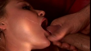 Emily eats his cum