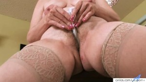 Hairy Chubby Milf Fingers Herself
