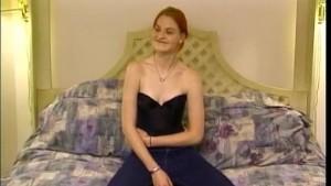 Tall redhead fucked on cam