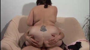 Your belly shakes like jelly when I jam my dick into you (clip)