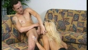 Young couple perform for the camera (clip)