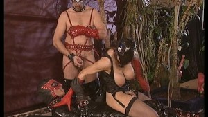 This Bad Pussy Cat Gets An Ass Pounding By Leather Bandits! (Clip)