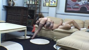 He keeps jerking while she keeps smothering