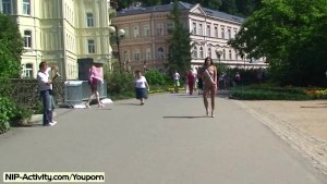 Spectacular Public Nudity With Horny Valerie