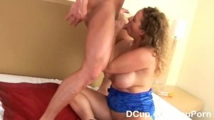 Busty chick given a cleavage blasting finale