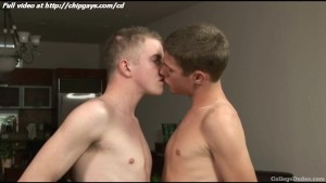 Sweet college gay kissing