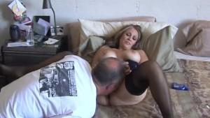 Cum on sexy mature tits