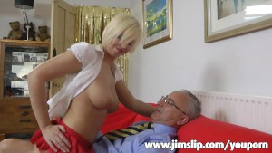 Blonde UK girl getting fucked by Jim Slip