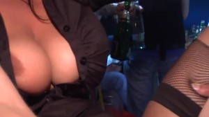 Lovely looking Girls get fucked in night club