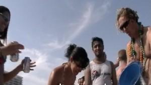 Spring Break Girls Coke Beach Flashing Part 1
