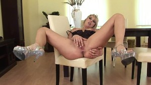 Gorgeous Ester masturbating solo