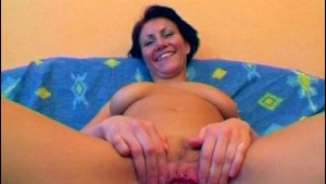 German cutie smiles while touching herself - Sascha Production