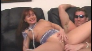 Sexy brunette with big tits gets fucked on the couch - Lord Perious