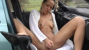 Amateur wife sucks and fucks in her car