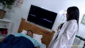 Hot & Horny Asian slut Nurse Asa Akira fucks a patient's big dick