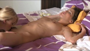 Lesbea Tonguing her pussy to orgasm