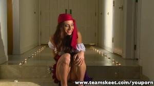 ExxxtraSmall Halloween Special Petite Pirate hottie Vanessa Sixxx fucked
