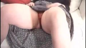 British amateur school teacher takes her first panty cumshot