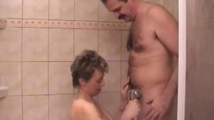 Older couple gets dirty in the shower - Dr. Moretwat's