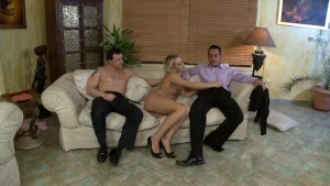 Gorgeous blonde gets shared by her boyfriend - Playvision