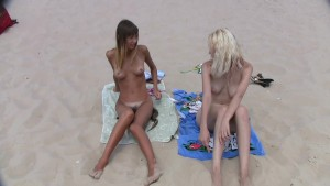 They love sunbathing naked on the wild beach