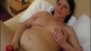 Chubby wife is filmed for the first time