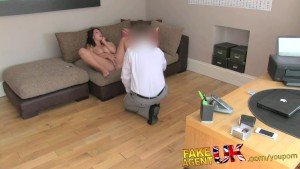 FakeAgentUK Husky voiced amateur with massive natural tits in creampie casting