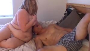 Beautiful busty blonde BBW Christina enjoys a facial cumshot
