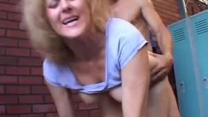 Dirty old spunker Dana loves the taste of cum