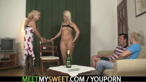 Naughty GF and his family having sex