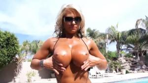 Aziani Iron blonde bombshell fitness model Megan