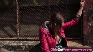 Girls Out West - Hot lesbian sex in public