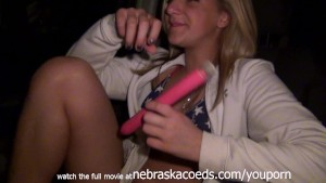 Hot Blonde Masturbating in Public on Her Highschool Bleachers During Baseball Game Cedar Rapids Iowa
