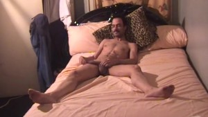 Mustached guy washes his uncut cock and gets dirty - East Harlem Productions