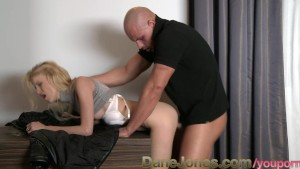 DaneJones Stunning blonde with beautiful shaved pussy fucked hard by stranger
