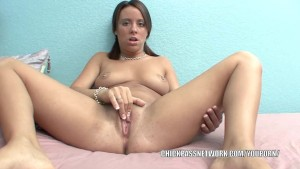 Horny brunette Chaydin is finger banging her twat