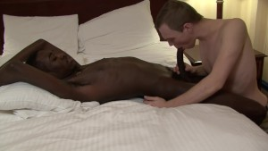 White guy deepthroating bbc - Factory Video